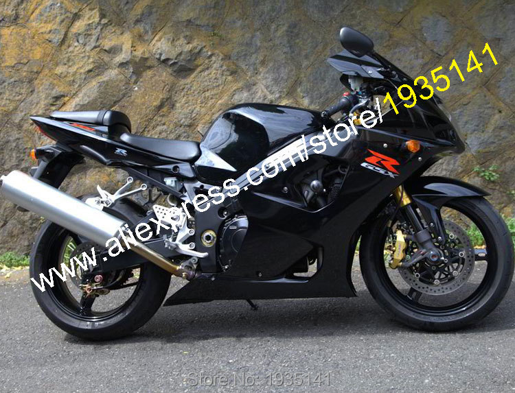 Hot Sales,For Suzuki 2003 2004 GSXR1000 Parts GSX R1000 K3 03 04 GSX R 1000 Full Black Motorbike Fairing Kit (Injection molding)