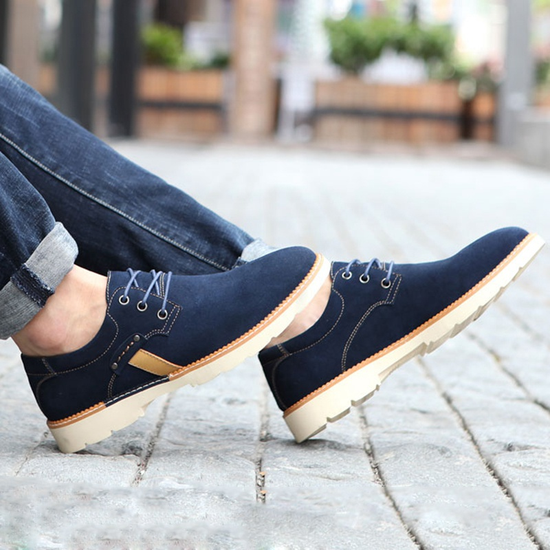 ФОТО Top Selling Men Casual Shoes Wear Resistant Shoes Driving Shoes Lace-Up Flats Zapatillas Hombre Asian Size 39-44