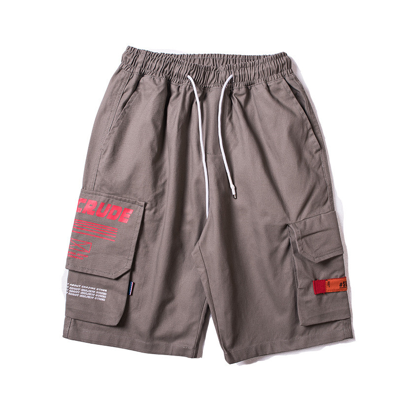 Japanese Harajuku Big Pockets Mens Cargo Shorts for Summer Urban Boys Streetwear Drawstring Hip Hop Short Pants Plus Size M-XXL 13
