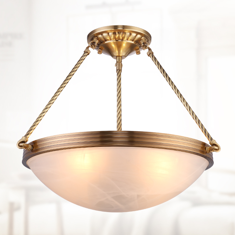 Imitation marble light copper light retro American living room restaurant of new Chinese s pendant light ZH ZL312 lo1021 european style living pendant lamps room bedroom dining room entrance hall marble lamp full copper pendant light zh