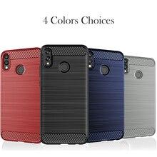 Phone Case For Huawei Honor 8X Silicon Anti-knock Cover Max Protective Carbon Fiber Fundas Bumper