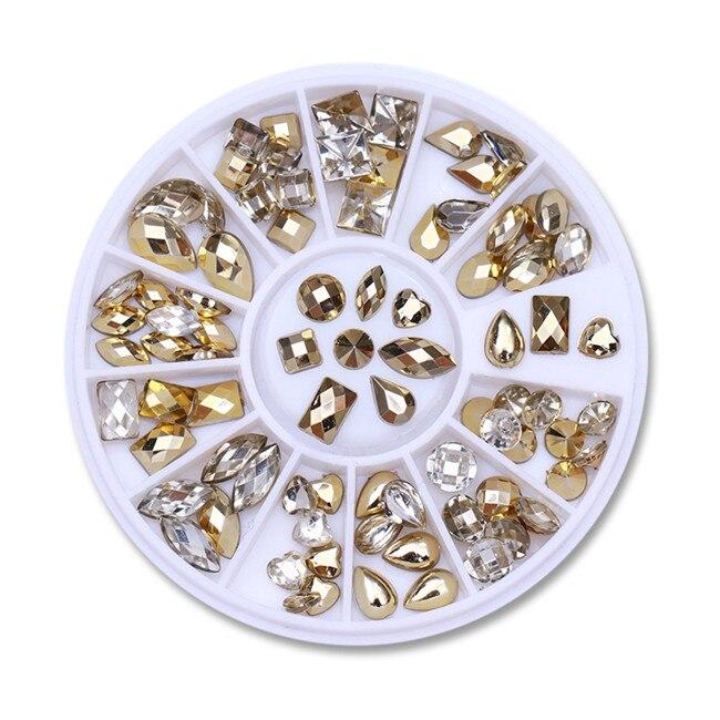 3D металлические украшения для нейл-арта, золотая металлическая цепочка, бисер, линия, много размеров, змеиная кость, сделай сам, украшение для маникюра, нейл-арта, 1 коробка - Цвет: 419400