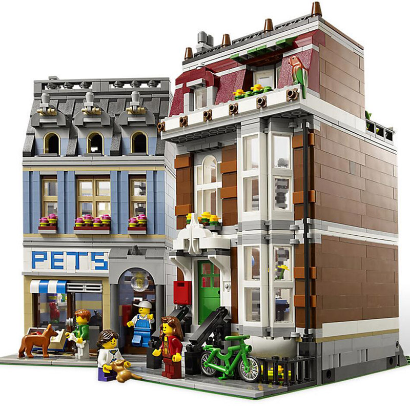 15009 Streetscape Pet Shop Supermarket Model City Street Building Blocks 2128pcs Bricks Compatible With Legoings15009 Streetscape Pet Shop Supermarket Model City Street Building Blocks 2128pcs Bricks Compatible With Legoings
