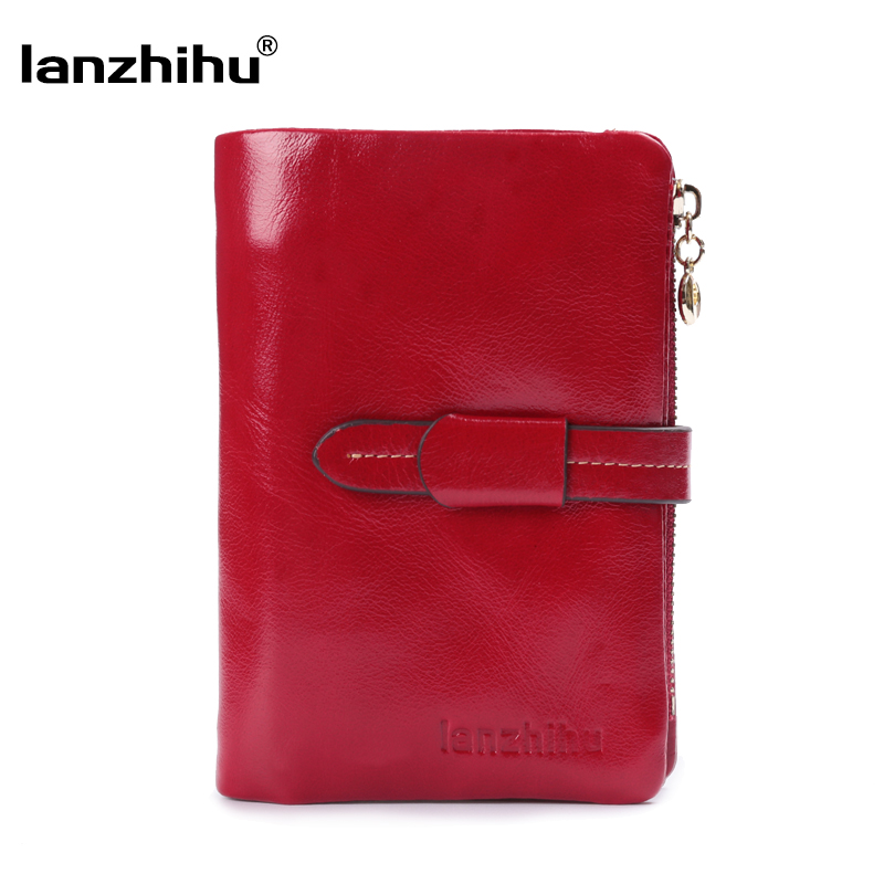 couro curta pequena do couro Wallet Tipo : Genuine Leather Short Trifold Wallet