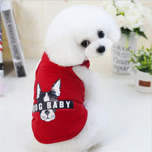 Cheap Small Dog Clothes Summer Spring Cartoon Pet Cat Shirt Cute Yorkshire Terrier T-shirt Breathable Vest
