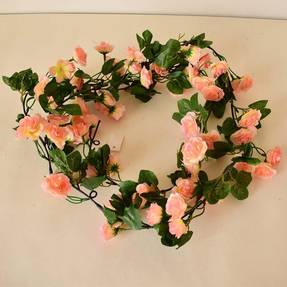 Silk Rose Artificial Flowers Vine For Home Tabletop Garden Wedding