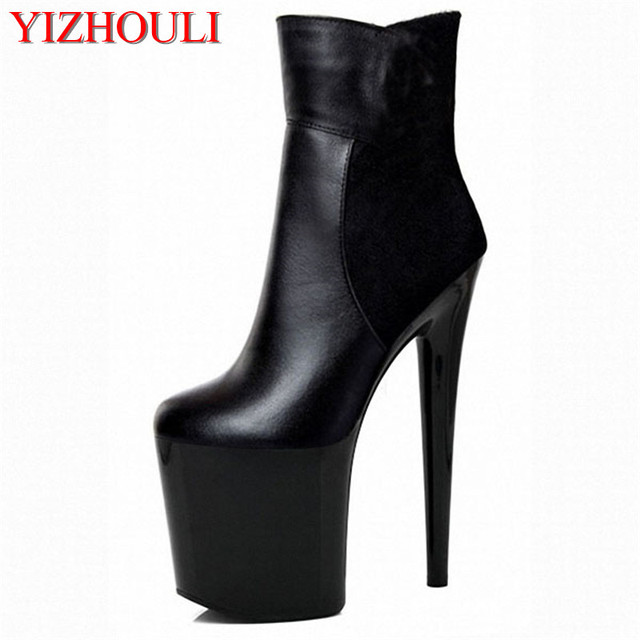 45a86b079e36 18 20cm Sexy Platform Boots Woman Stunning Ankle Boots For Women Fress New  Sexy Women Leopard 8 Inch High Heels Boots Plus Size-in Ankle Boots from  Shoes on ...