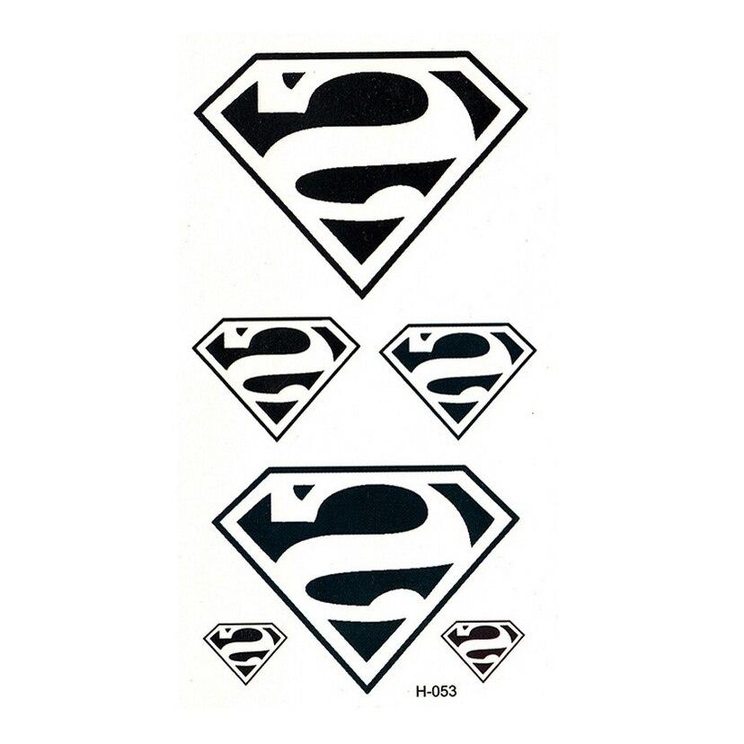hot  Superman logo tatuajes temporales waterproof temporary tattoos fake tattoo sticker tatoo tatuagem gold tattoo xha