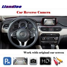 Auto Reverse Parking Camera (6V) For Mazda 6 Atenza Sedan Mazda6 2013~2018 / Rear Rearview Camera Work with Car Factory Screen 6pcs pull back car toys car children racing car baby mini cars cartoon pull back bus truck kids toys for children boy gifts