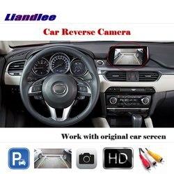 Tylna kamera samochodowa (6V) dla Mazda 6 Atenza GJ1 Sedan Mazda6 2013-2018 2014 2016 /Not Fit GG1 GH1 kamera cofania akcesoria samochodowe