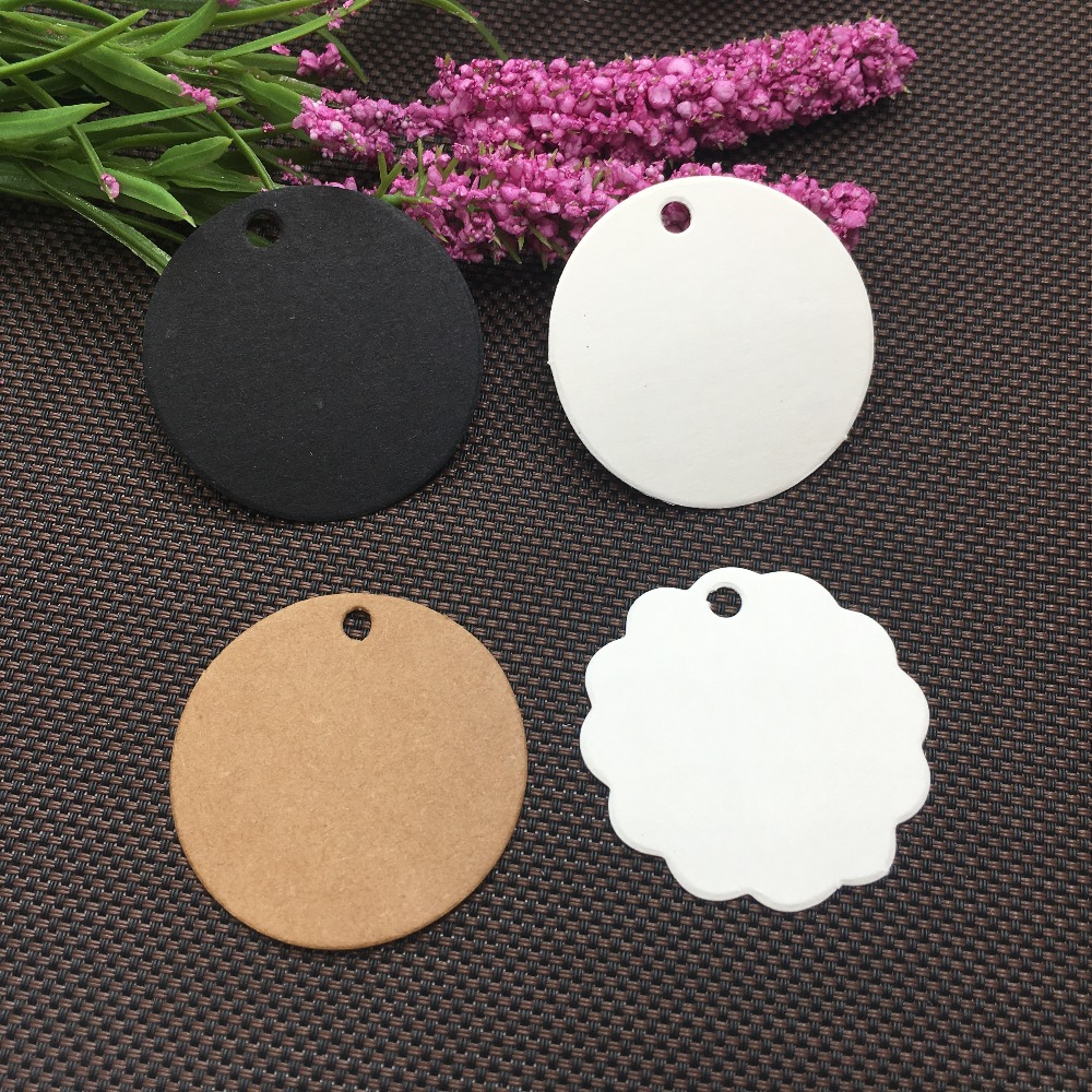 200pcs Kraft Round Tags Gift Packing Labels Price Tags Festival Wedding Decoration Blank Mini Luggage Label