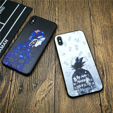 Cartoon Camo Dragon Ball Naruto Goku soft phone cover case for iphone X XS MAX XR 8 7 6 6S plus relief silicon cases coque funda ciciber dragon ball phone case for iphone 11 pro max xr x xs max tempered glass cover cases for iphone 7 8 6 6s plus funda coque