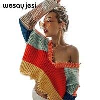 Coat women Unif sweater women pullover tops streetwear Winter Deep v neck sweater Tassel Loose Cropped Sweater cashmere