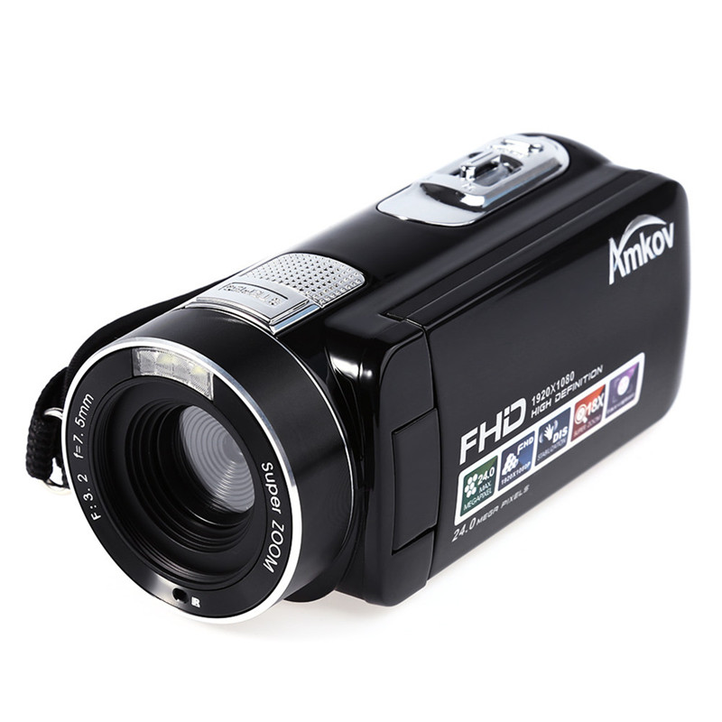 цена на Amkov Full HD MINI DV Camera AMK-DV161 24MP HD Digital Camera DV Video Camera HD 1080P 30FPS 24MP 18X Digital Zoom