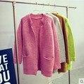El otoño y el invierno de las nuevas mujeres chaqueta de cachemira de cuello alto suéter de Corea Del Sur versión de gran tamaño suéter corto de las mujeres