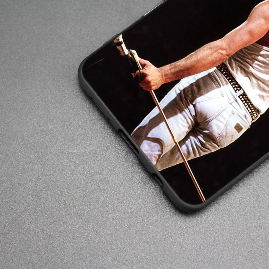 Queen Freddie Mercury Silicone Case For Samsung Galaxy S8 S9 S10 Plus S10e A50 A30 M30 A40 A20 A10 M20 M10 S7 Edge Cover in Fitted Cases from Cellphones Telecommunications
