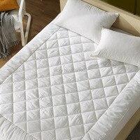 Высокое качество новый 100% шелк тутового постельные принадлежности Матрас шелковицы заполнено Топпер 200*180 см 2 кг шелк заполнения 100% хлопок