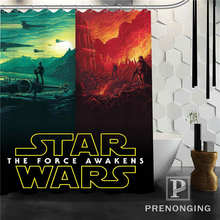 Gepersonaliseerde Custom Star War Movie Douchegordijn Home Decor Baden Gordijnen Doek Waterdicht Polyester @ W04 S171218-11(China)