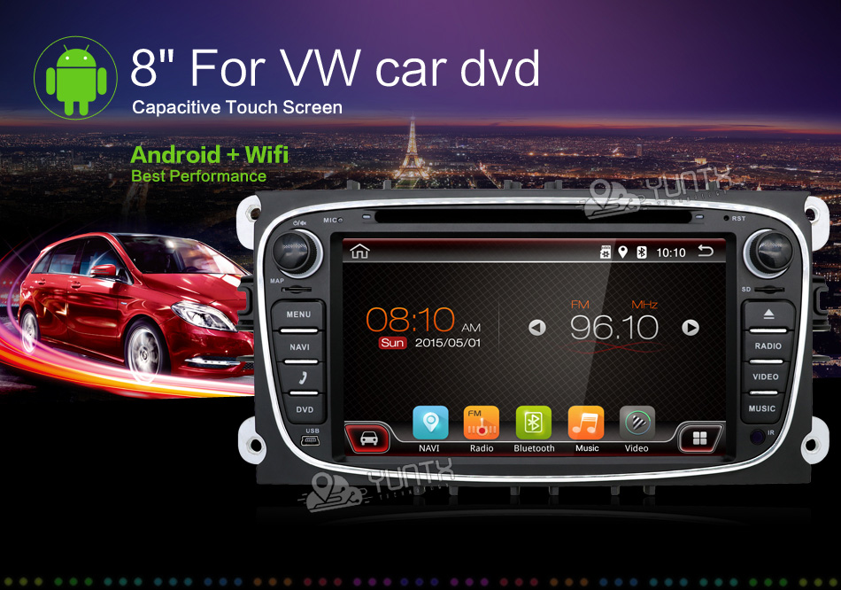 2din Android 6.0 Car DVD for Ford Mondeo C-max S max with English Wifi 3G/4G GPS Bluetooth Radio touch screen mirror link