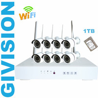 Wireless 8pc Ip Camera NVR System 8CH 1 3mp 960p Hd Wifi Network Security Video Camera