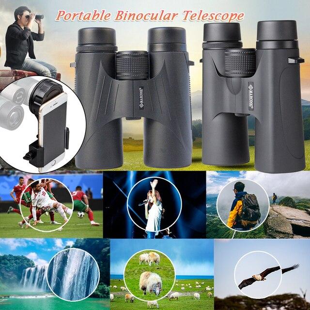 MARCOOL Optical Support Mobie Phone 10x42 HD  High Powerful BAK4 Prism Central Zoom Night Vision Telescope Waterproof Binocular
