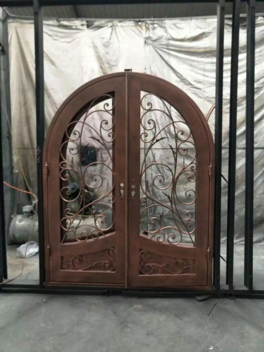 Forged Iron Doors : Hand made custom design forged iron wrought doors for