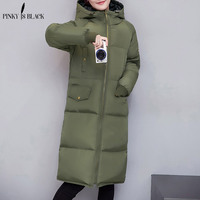 Winter Jacket Women 2015 New Arrival X Long Outerwear Down Cotton Padded Jacket Coat Wadded Jacket
