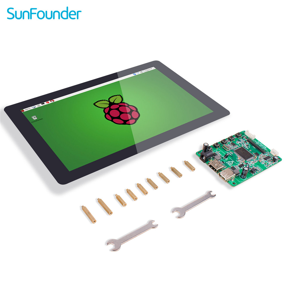 SunFounder 10.1 IPS LCD Touch Screen Display Monitor HDMI 1280*800 For Raspberry Pi 4B 3B+ 3B 2B  LattePanda Beagle Bone