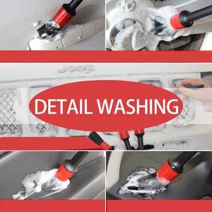 Image 5 - 5 Pcs Auto Detailing Cleaning Tool Natural Boar Borstels Voor Auto interieur Kloof Velgen Dashboard Wiel Air Vent Trim