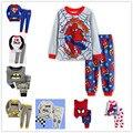 Горячие продажи весна мальчики комплект одежды хлопка дети дети одежда наборы костюмы для мальчиков 2 шт. пижамы с длинным рукавом boyrs пижамы