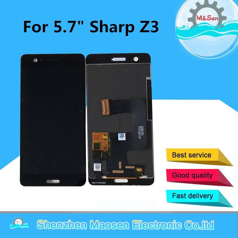 D'origine M & Sen 2560x1440 Pour 5.7 Sharp Z3 LCD Écran D'affichage + Écran Tactile Numériseur pour Sharp Z3 L'assemblée Lcd Affichage
