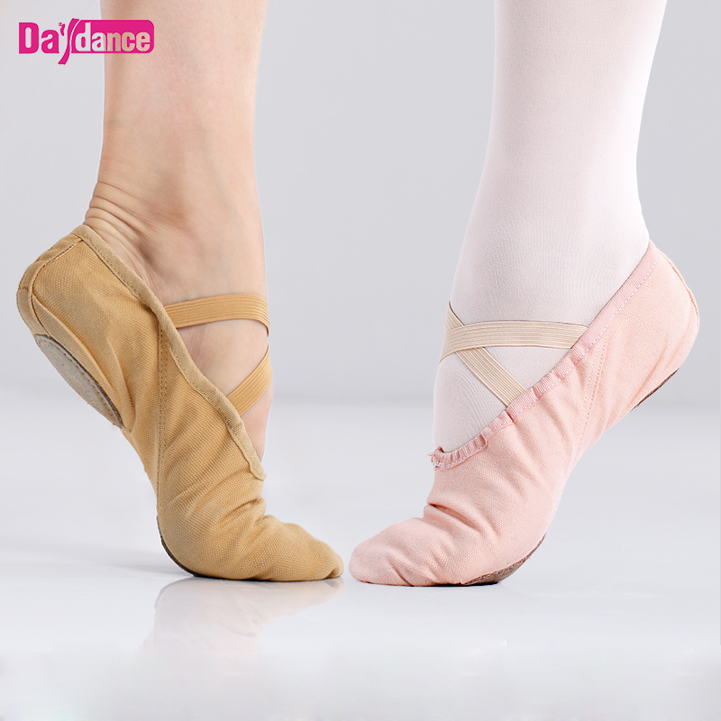Ballet Dance Shoes Canvas Cotton Dance Slipppers For Girls Women Ballerina