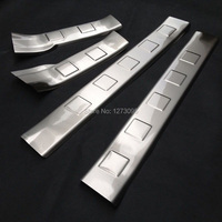 Stainless Steel Interior Scuff Plate Threshold Strip Welcome Pedal For 2008 2013 Nissan X Trail T31