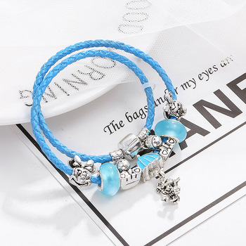 Cute Bracelet For Women With Blue Unicorn Beads Jewelry