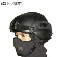 Mich 2000 Combate Tático Militar Helmet W/NVG Side Mount & Rail para Airsoft Paintball Campo Filme Prop cosplay(China)