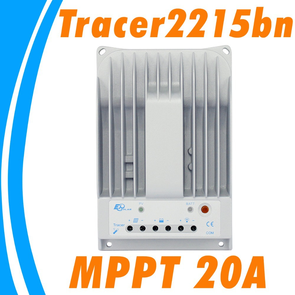 EPSOLAR MPPT 20A Solar Charge Controller 12V 24V Auto Switch Solar Regulator Tracer2215BN GEL Lead acid