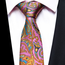 New Design Paisley Jacquard Woven Silk Mens Ties Neck Tie 8cm Striped for Men Business Suit Wedding Party