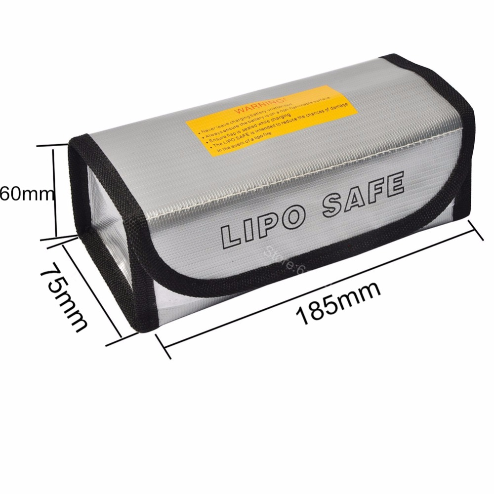 RC Lipo Battery Safe Bag Guard Sack Fireproof Explosionproof For Charge Storage 185x75x60mm Large size