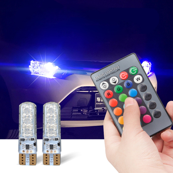 T10 W5W Led RGB Remote Control Clearance Lights For BMW E46 E39 E91 E92 E93 E28 E61 F11 E63 E64 E84 E83 F25 E70 E53 E71 E60 image