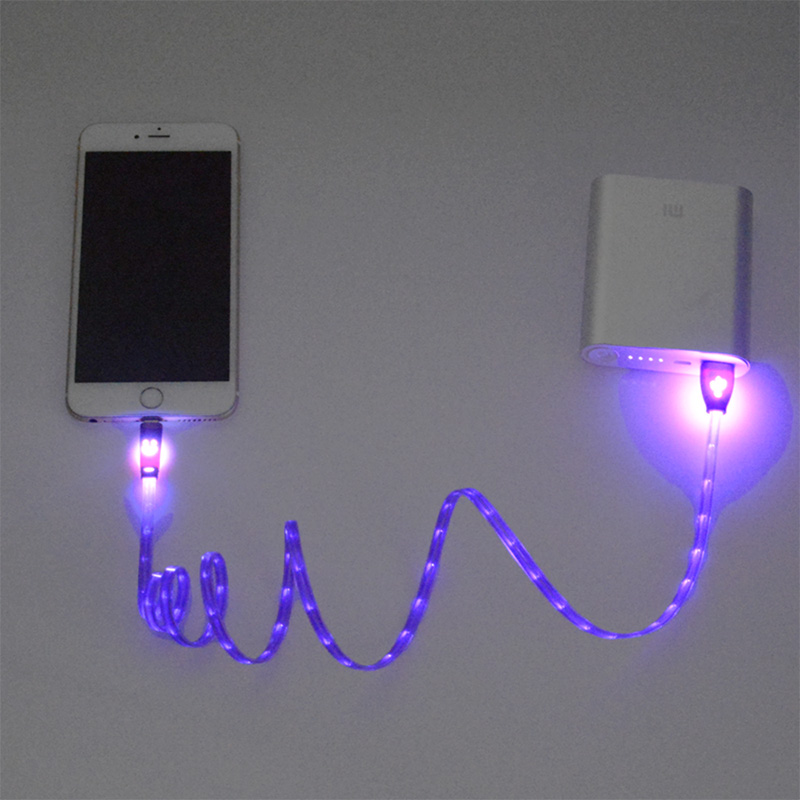 1m Night Led Light Universal For Lightning Micro Usb Cable