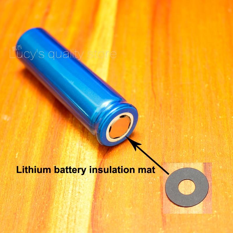 Купить с кэшбэком 100pcs/lot 18650 Lithium Battery Positive Hollow Tip Insulation Gasket 18650 Battery Face Pad Insulation Pad 17*6.5*0.4MM