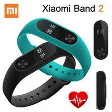 Original Xiaomi Mi BAND 2 Miband 2 สมาร์ท Heart Rate Monitor สายรัดข้อมือสำหรับ Android iOS สร้อยข้อมือทัชแพดหน้าจอ OLED