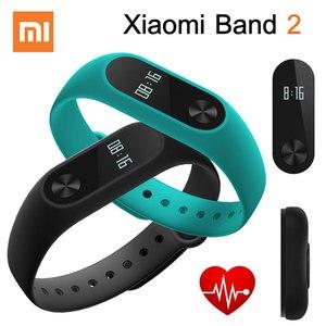Image 1 - Orijinal Xiaomi Mi Band 2 Miband 2 akıllı kalp hızı monitörü bileklik Android iOS bilezik Touchpad OLED ekran