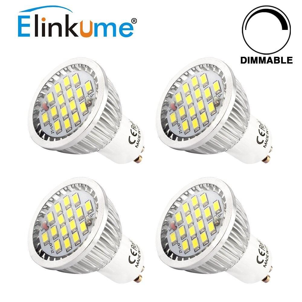 Elinkume 4/10 pcs GU10 Dimmabl LED Ampoules 5 W Lampe de Projecteur 16 pcs SMD2835 économie D'énergie Lumière 220 V Ampoule pour Downlight