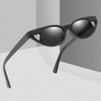 Small Sunglasses for Women Fashion Ledies Love Heart Sun Glasses Retro Cat Eye Eyeglasses Female Hearts Sunglass image