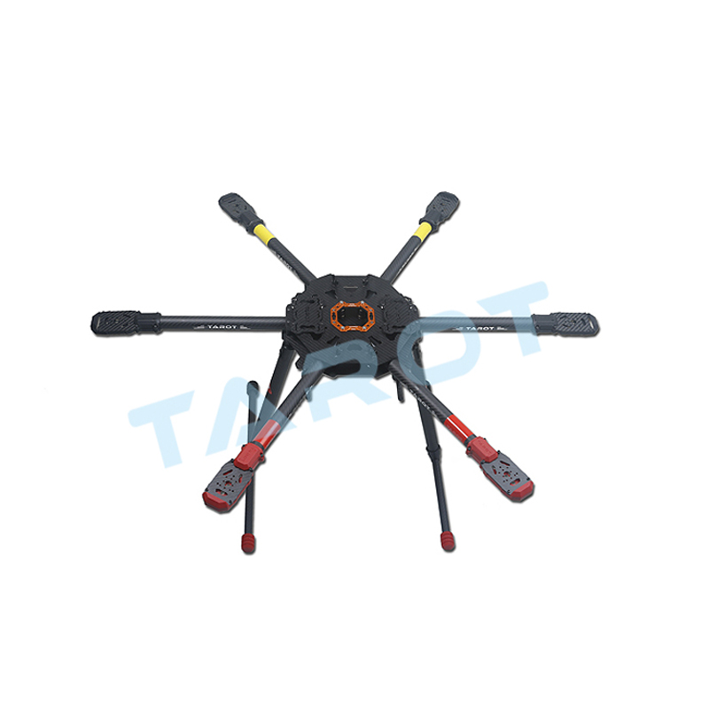 810mm 6-axis Drone Hexacopter X6 Folding Frame with Electric Landing Gear CNC Lightweight for professional Aerial Photographer