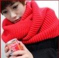 Бесплатная доставка женской моды осень-зима шерстяной шарф воротник женщина вязаные Шарфы 150 см длинный круг шарф