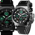 Multifunción Reloj de Los Hombres LED Digital Analog Hombre Reloj Militar 30 M Impermeable relojes de Cuarzo de Moda Casual Hombres Del Reloj Del Deporte