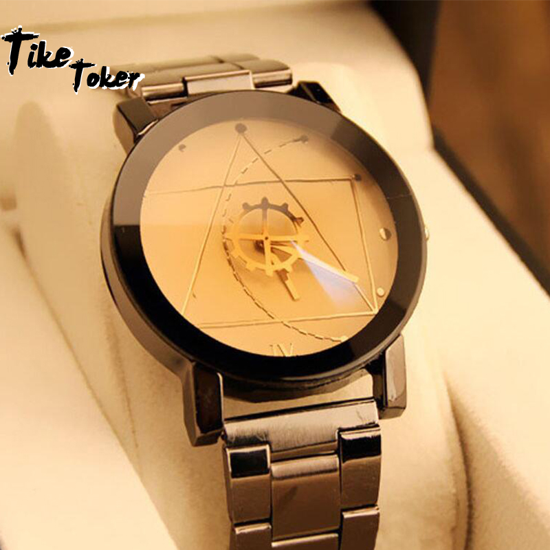Hot Fashion Couple Watches Stainless Steel Luxury Brand Women Man Quartz Wrist Watch For Lovers Relogio Feminino Drop Shipping10
