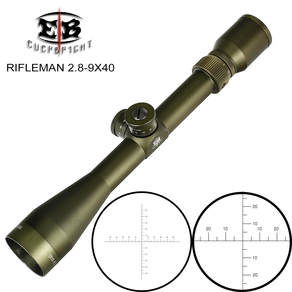 EB RIFLEMAN 2.8-9X40 FFP Hunting Riflescopes First Focal Plane Scope Glass Etched Reticle Turrets Lock Reset Tactical Optical